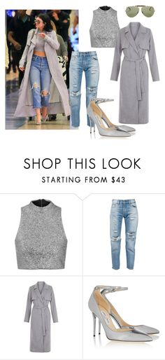 """""""Gray for Gray day"""" by kiane-acza on Polyvore featuring moda, Topshop, Levi's, Jimmy Choo, Ray-Ban, women's clothing, women, female, woman e misses"""