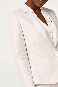 Linen mix blazer / Esprit
