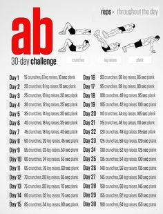 30 Day Ab Challenge - Health Fitness Sixpack Workout Plan Hard