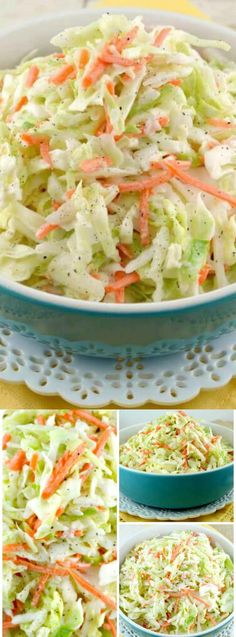 The dressing in this yummy KFC Coleslaw Recipe tastes exactly like the original from KFC! It& the perfect side dish for all of your fun Summer BBQ& Potluck Recipes, Salad Recipes, Cooking Recipes, Easy Cooking, Easy Recipes, Vegan Recipes, Kfc Coleslaw, Grilled Vegetables, Veggies