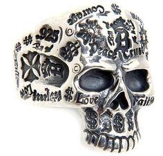 Bill Wall Leather/ビルウォールレザー RINGS/リング Graffiti Large forehead skull 27 シルバー (ビルウォールレザー) Bill Wall Leather, http://www.amazon.co.jp/dp/B005T05FCY/ref=cm_sw_r_pi_dp_0j8fsb099B5JF