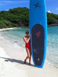paddle boarding at Jumbie beach
