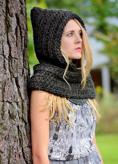 Crochet Pattern Hat Pattern Cowl Pattern The by SimplyMadeByErin