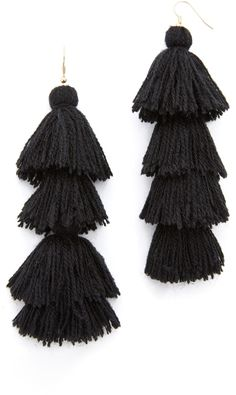 MISA Solid Tassel Earrings