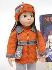 Ravelry: cataddict& December in New York FREEBIE hat, jacket and boots patterns American Doll Clothes, Ag Doll Clothes, Doll Clothes Patterns, Doll Patterns, Knitting Patterns, Crochet Doll Dress, Crochet Doll Clothes, Knitted Dolls, Crochet Boots Pattern