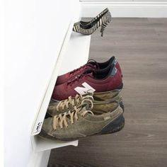43 Fabulous DIY Shoe Rack Design Ideas for Your Shoe Collection dreamsrecords 1 Tier Shoe Rack, Diy Shoe Rack, Shoe Storage, Vertical Shoe Rack, Door Shoe Organizer, Rack Design, Shoe Cabinet, Shoe Collection, Your Shoes