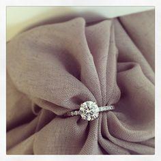 Diamond Accented Diamond Engagement Ring