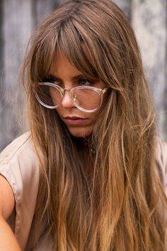 Hair To Be Envied Hair inspiration and how to get .- Hair To Be Envied Hair inspiration and how to get stronger hair Hair To Be Envied Hair inspiration and how to get stronger hair - Fringe Hairstyles, Hairstyles With Bangs, Long Haircuts, Bangs And Glasses, Blonde With Glasses, Glasses Style, Brown Blonde Hair, Blonde Bangs, Pelo Natural