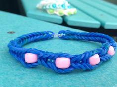 Rainbow Loom Bracelets with Beads Twistz Bandz Elastic Fishtail Rubber Bands (All Money Towards Canadian Diabetes Association CDA)