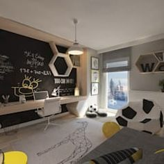 Modern Kids bedroom by living boxYou can find Quartos and more on our website.Modern Kids bedroom by living box