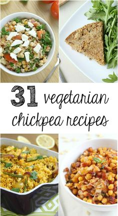A collection of 31 amazing vegetarian chickpea recipes from Amuse Your Bouche and around the web. (Thanks for including me!)
