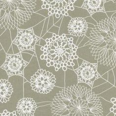 Cotton and Steel House Designer - SpellBound - Doily Web in Grey #Halloween #Fabric