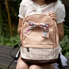 Cool! Cute Lace Floral Sweet Bow Backpacks just $35.9 from ByGoods.com! I can't wait to get it!