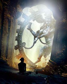 Music Therapy Relaxing - As Nataraja (Sanskrit: Lord of Dance) Shiva represents apocalypse and creation as he dances away the - Mahakal Shiva, Shiva Art, Hindu Art, Lord Krishna, Nataraja, Om Namah Shivaya, Lorde Shiva, Orange Ville, Yoga Meditation