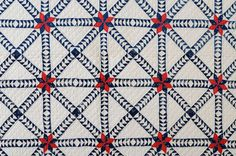 Wild Goose Chase Quilt | From a unique collection of antique and modern quilts at https://www.1stdibs.com/furniture/folk-art/quilts/