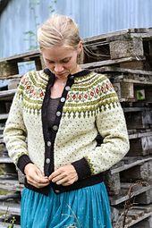 button up sweater Fair Isle Knitting Patterns, Fair Isle Pattern, Knit Patterns, How To Start Knitting, How To Purl Knit, Vintage Knitting, Hand Knitting, Crochet Cardigan, Knit Crochet