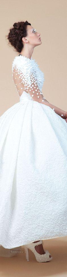 Jean Louis Sabaji F/W 2014/15. wedding dress #weddingdress…