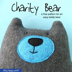 Warren the Charity Bear - a free teddy bear pattern from Shiny Happy World