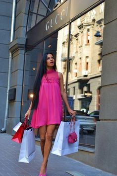 Shopping, and looking pretty in pink <3