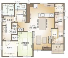 Traditional Japanese House, Room Tiles, Small House Plans, Neutral Colors, Home Goods, Sweet Home, Floor Plans, Layout, Flooring