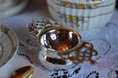 Windsor Silver Plated Tea Strainer by LooseLeafTeaShop on Etsy