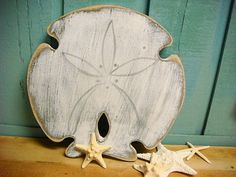 Sand Dollar Sign Small Beach House Decor Wall Art.