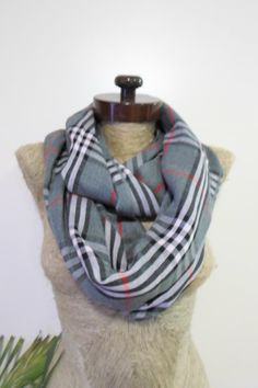 Check out this item in my Etsy shop https://www.etsy.com/listing/220571308/mothers-day-gray-plaid-scarf-cotton