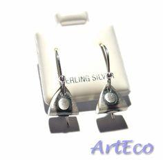 3D triangle sterling silver Earrings   Sterling Silver Jewellery handmade in London by ArtEco