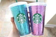 Starbucks Glitter Cup by PretttyLittleThings on Etsy