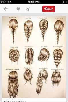 These are some cute easy hairstyles for school, or a party. (For when my hair actually grows out!)