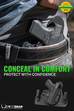 An inside the waistband pistol holster choice. Murph's Custom Leather Inside the waistband 1911 holster. Best Concealed Carry, Concealed Carry Holsters, Conceal Carry, Best Iwb Holster, Kydex Holster, Police Gear, Ruger Lcp, Guns And Ammo, Self Defense