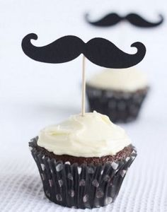 Set of 50 Mustache Cupcake Toppers DIY Kit by itrhymeswithorange,