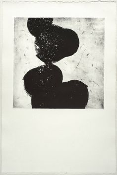 Buy In Between #1, a Monotype on Paper by Owen Demers from United States. It portrays: Abstract, relevant to: printmaking, black, stones, monoprint, monotype, BFK Rives, figure, ink Monotype, Ink on BFK Rives