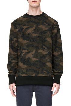 Weekday Collar Knit Sweater in Black