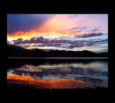 Sunset at Hungry Horse Dam, Montana the place Steve and I plan to move ...