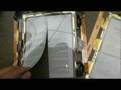 Flexible e-reader display cut in half with scissors - the display works fine in two pieces