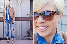 mom style, 5 friday confessions, wayfarers, brown leather jacket, leopard wedges, boyfriend jeans