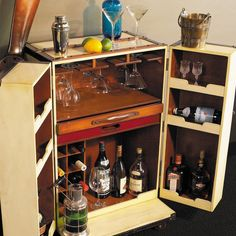 This classic bar unit is inspired by the Belle Époque and the by-gone era of peace and prosperity in Europe in the late 1870s. During this period armies of stewards and porters used to wheel similar trunks from waiting luxury Bentleys to the holds of transatlantic steamers for far flung travels. Built in aged canvas and wood, with leather accents, this replica is big enough for pur-sang bartending, but also small enough to fit into a small chic studio areas. Its classic shape and style is…