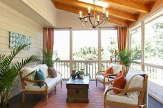 A porch renovation by the Property Brothers ... gorgeous