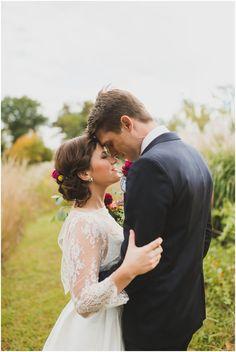 Stephanie Dee Photography | Lindsay and Dave | River Farm Wedding | http://www.stephaniedeeblog.com.  Vintage hairstyle by Stephanie - makeup by Pia.