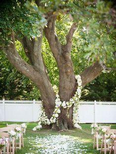 Adorned Tree Trunk - Creative Alternatives to Wedding Arches - Photos