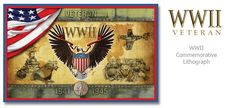 WWII Veteran Commemorative Lithograph  Check Facebook and www.huntstudio.com for special promotions