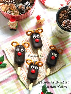 圣诞驯鹿巧克力蛋糕(Christmas Reindeer Chocolate Cakes)