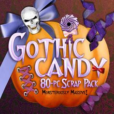 GOTHIC CANDY HALLOWEEN SCRAPBOOKING KIT    Bring Your Dark Side to Life with this Jam-Packed, 'Monstrously Massive' 80-PC. Scrapbook Mega-Bundle of Gothic Eye Cand