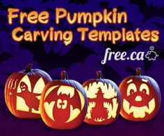 Free Pumpkin Carving Templates http://free.ca/blog/free-pumpkin-carving-templates/