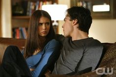 """By The Light Of The Moon"" - Nina Dobrev as Elena, Ian Somerhalder as Damon in THE VAMPIRE DIARIES on The CW. Photo: Quantrell Colbert/The CW 2010 The CW Network, LLC. All Rights Reserved."