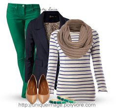 """""""Navy & Green"""" by uniqueimage ❤ liked on Polyvore"""