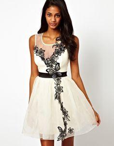 Monochrome Bridesmaids Dress Lipsy VIP Tutu Dress with Butterfly Detail