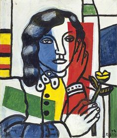 fernand léger(1881–1955), young girl holding a flower, 1954. oil on canvas, 55 x 46 cm. the fitzwilliam museum, uk http://www.bbc.co.uk/arts/yourpaintings/paintings/young-girl-holding-a-flower-4607