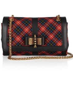 Christian Louboutin leather/plaid bag  - would make a beautiful holiday bag